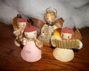 4 Adorable Angels from the 1930's  that need a little TLC