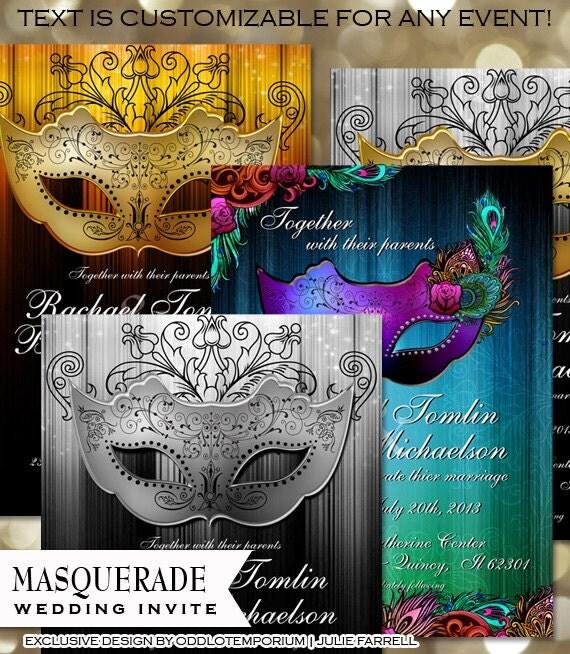 Masquerade Wedding Invitations: Masquerade Invitation Printable Masquerade Party Invitation