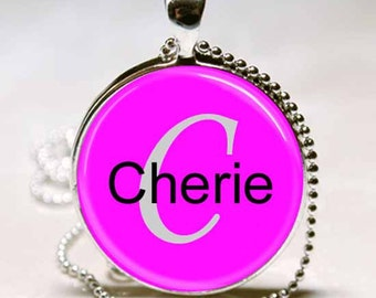 Cherie Name Pendant Name Monogram Handcrafted  Necklace Pendant (NPD0558)