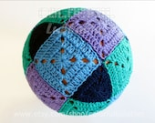 Crochet Square and Triangle Ball Pattern-Rhombicuboctahedron. Ball pillow, ball toy, round pillow cover, bedroom pillow,crochet sphere
