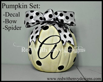 Monogrammed Initial Pumpkin Kit