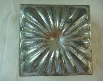 Vintage French Tin/Tole Cake Mold Box