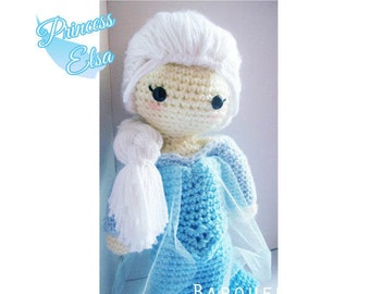 Crochet Doll - Frozen Inspired - Princess Elsa Inspired - Special Edition