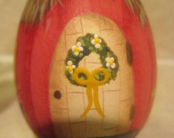 Wooden Easter Egg House
