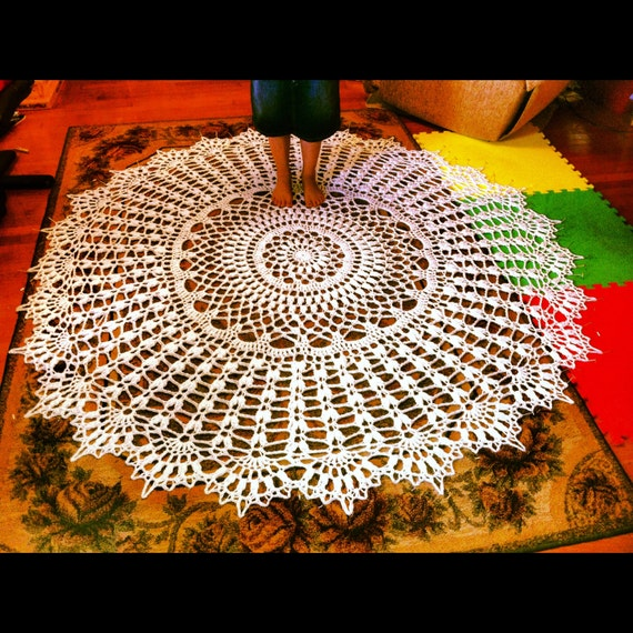 72 inch Giant Doily Rug Lace Tablecloth Crochet Throw Outdoor Rug Crochet Amish Crochet Pattern Wedding Cake Topper