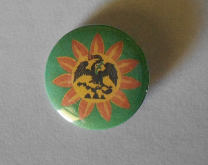 "Original Mexica Nation Flag 1.25"" Pinback Button"