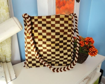 Checked Two-sided Zapotec Hip Bag Earthtones