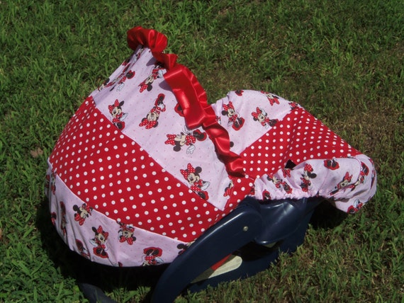 disney minnie mouse baby car seat cover infant seat cover slip. Black Bedroom Furniture Sets. Home Design Ideas
