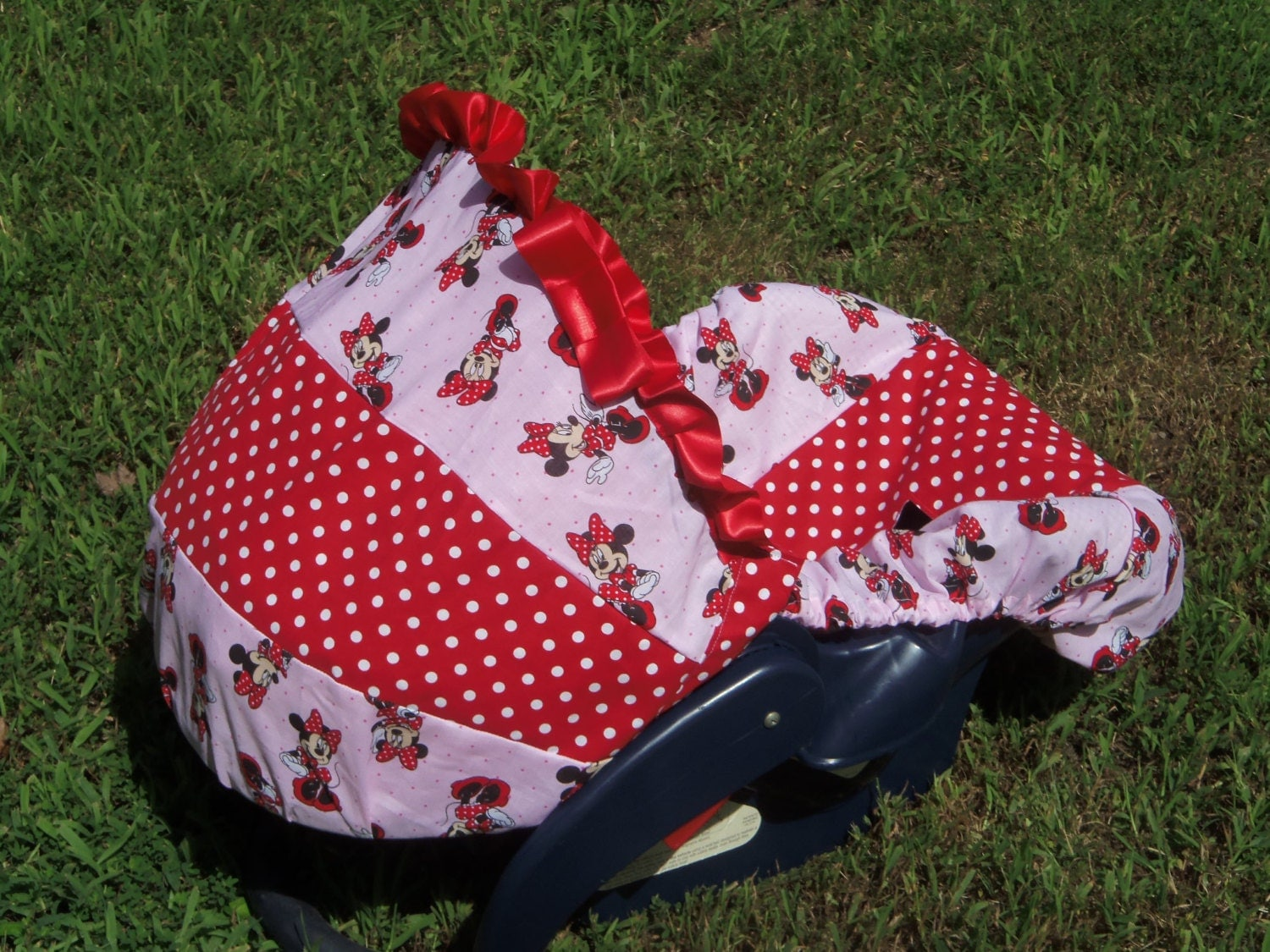 ac311d9e3 Disney Minnie Mouse baby car seat cover infant by Pinkbanditbaby2