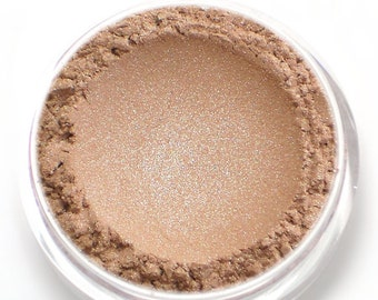 "Champagne Beige Eyeshadow with Shimmer - ""Charm"" - Vegan Mineral Eyeshadow Net Wt 2g Mineral Makeup Eye Color Pigment"