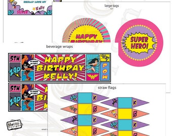 Girls Super Hero Birthday Decorations