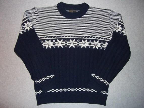 vintage 70s 80s jcpenney nordic ski skiing sweater long sleeve. Black Bedroom Furniture Sets. Home Design Ideas