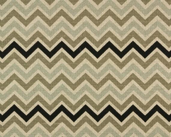 Panels 25 quot x 108 quot light blue black cream and grey chevron stripe