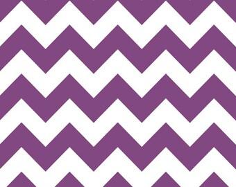 In Stock now - Medium Chevron Cotton - Purple by Riley Blake- 1 yard