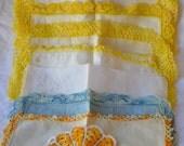Lot of 8 vintage ladies handkerchief Irish linen