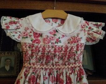 Heirloom Hand Smocked Angel Sleeve Dress