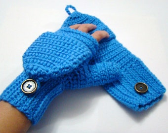 Free Crochet Pattern Ladies Mittens : Flip top mittens Etsy