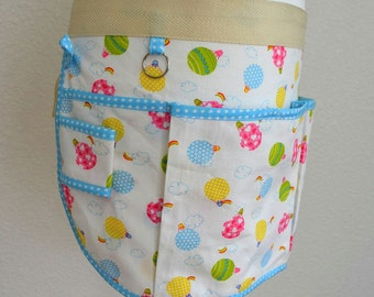 Utility Apron - Hot Air Balloons - White