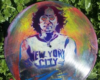 HAND PAINTED John Lennon Vinyl Record Art