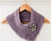 Crochet Pattern - Pretty Cowl / Scarf / Scarflette - Instant Download  PDF