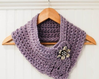 Crochet Pattern - Pretty Cowl / Scarf / Scarflette - Instant Download  PDF