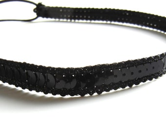 SALE // Black Sequin Headband