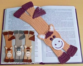 031 Horse Bookmark - Amigurumi Crochet Pattern PDF file by Zabelina Etsy