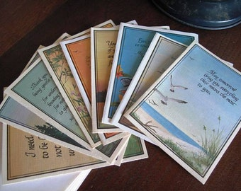"""10 Vintage Cards and Envelopes, Romantic, Friendship, 10 , """"Heat Warmers"""" Poetry, 1970s, Springbook Publications, Larry S. Chengges Poems"""