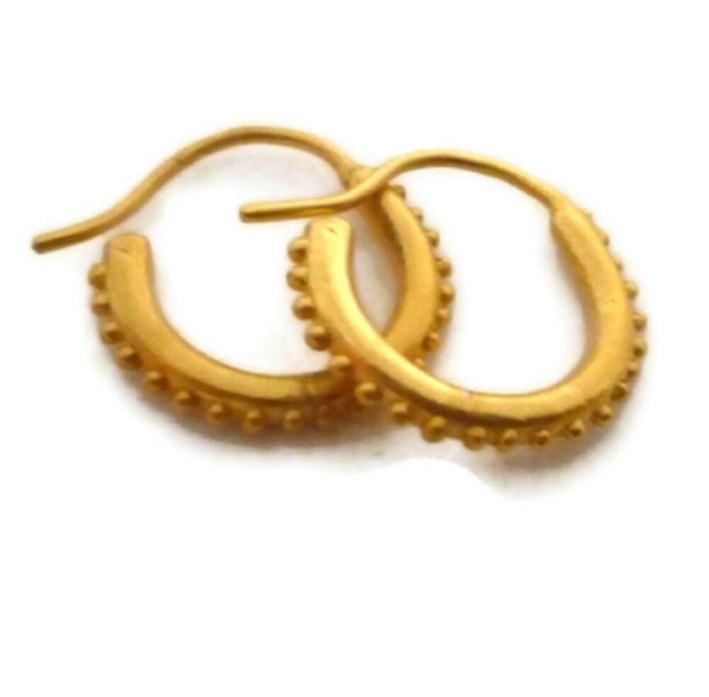 Small Gold Hoop Earrings Huggie Hoops Gold Vermeil Hoops