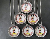 Mickey Mouse  Bottle Cap Party favors (6)  add on more for 2 dollars each