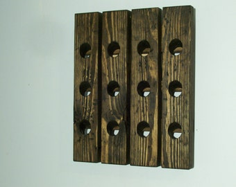 Wine Riddling Rack Distressed Wood Antiqued Wine Rack