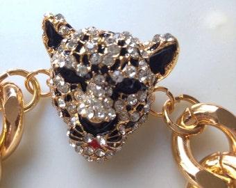 Pave Puma Gold Bracelet.
