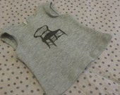 Grey Tank Top with Black Chair - American Girl Clothing