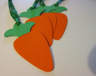4 carrot easter  tags, Carrot tags