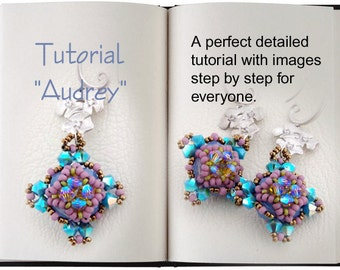 Jewelry tutorial .... Audrey... Earrings young and fresh.