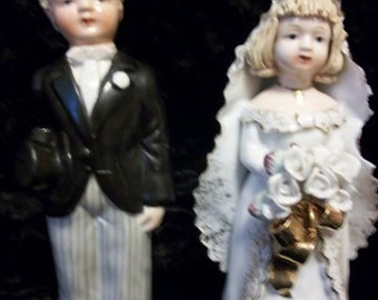 Bride & Groom by Lefton China,  Signed and Numbered