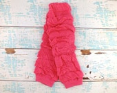 Clearance Hot Pink Leg Warmers Ready to Ship