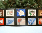 1930s/40s Salesman Sample Christmas Card Folder filled with set of 10 unused Christmas Cards