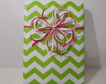 Lime Chevron Gift Wrap, wrapping paper, table runner, 10 feet long x 24 inches wide