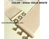 Belt, Glitter Stretch Belt for Prom Dress, Evening Dress, Bridesmaid Dress 7cm wide CUSTOM MADE