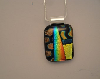 Dichroic Fused Glass Pendant - BHS02676