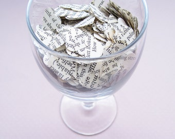 Romeo and Juliet Heart Novel Book Confetti - Choose from amounts of 200 to 1250 - Wedding Table Decoration Paper Hearts