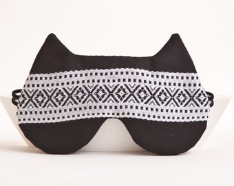 Cat Sleep Mask Black Mask for Woman Slumber Party Favors