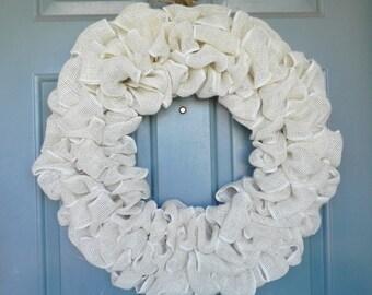 Burlap Wreath - Choose your Base Color