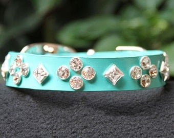 South Beach Swarovski Crystal Dog Collar