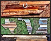 Reclaimed Barnwood State Sign Wall Decoration