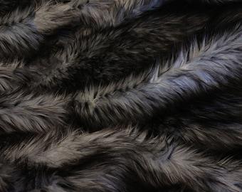 Third Yard Charcoal Grey Husky Shag Fur
