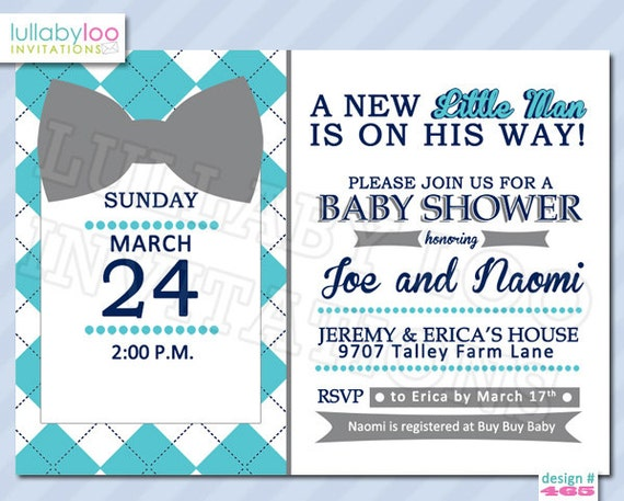 bow tie baby shower invitations 465 set of 12 printed invitations