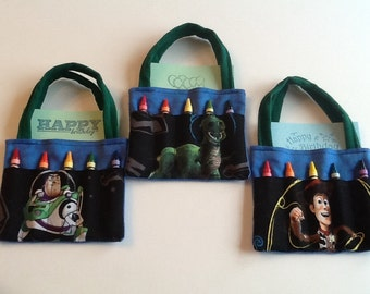 Toy Story Children's Crayon Bag and Customized Paper