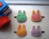 Polka Dot bunny hair clip- choose your style